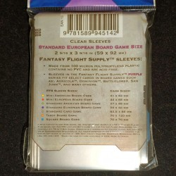 protège carte Fantasy Flight Standard Euro Verso Zoom