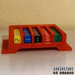 Rangement boite pour dés complète vue 1 Mission pas possible jeu de société Arkenstone