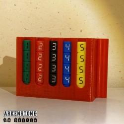 Rangement boite pour dés complète vue 2 Mission pas possible jeu de société Arkenstone